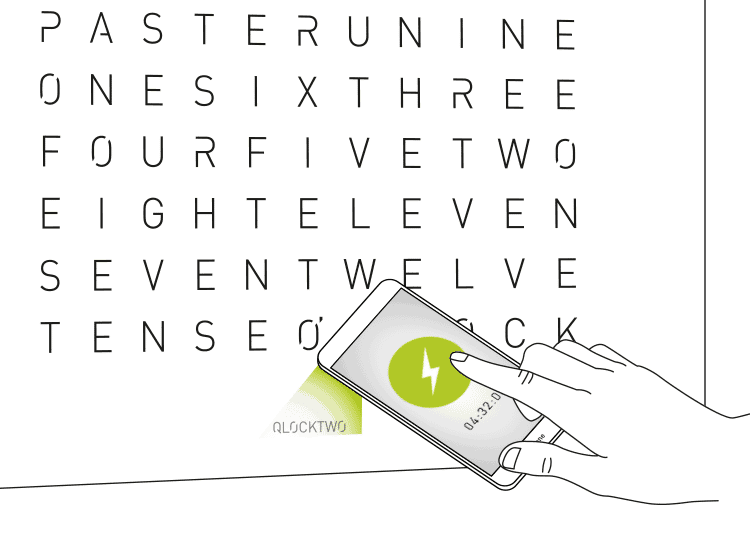 iPhone FLASHSETTER for QLOCKTWO LARGE