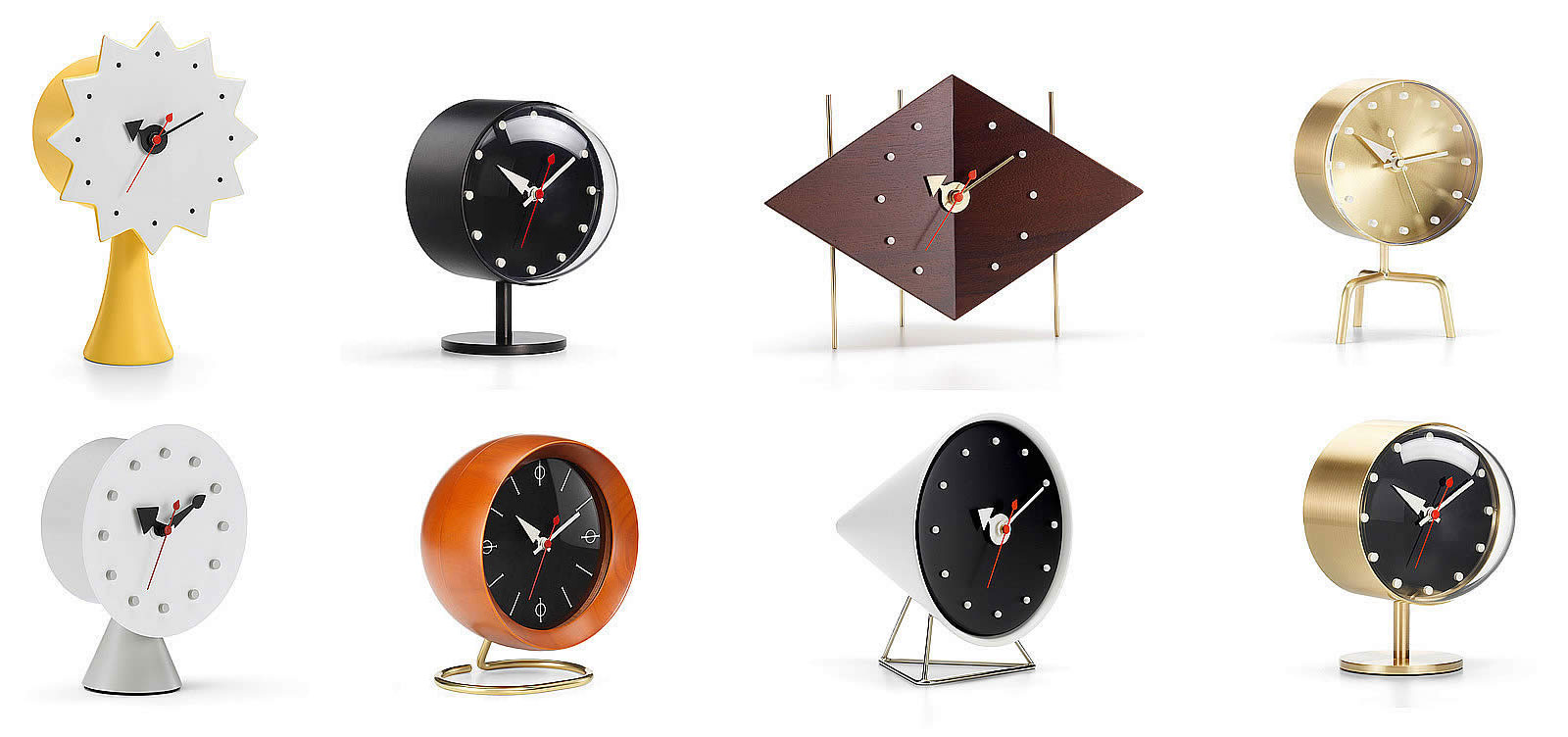 George Nelson clock installation showing scale